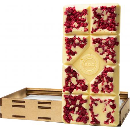 """Плитка шоколада """"Белая Малина""""   B.O.G"""