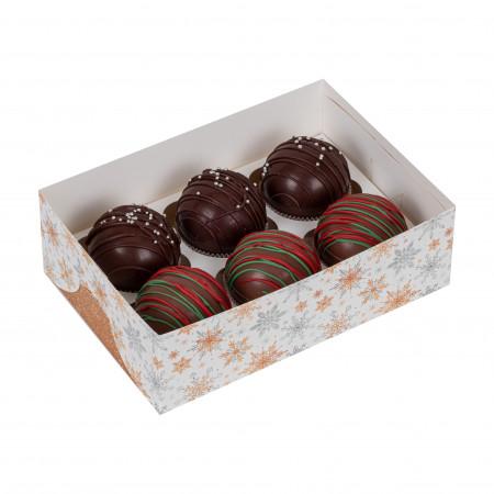 Ассорти-набор шариков из молочного шоколада - 3шт и темного шоколада 3шт