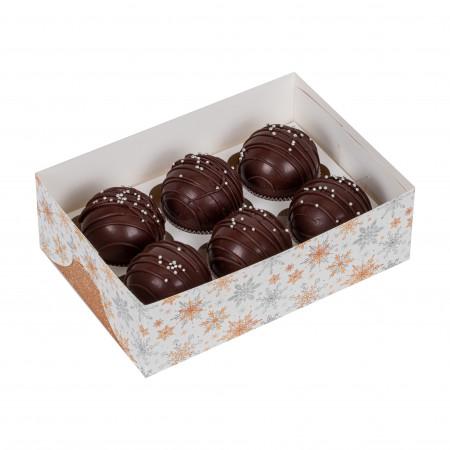 Набор шариков из темного шоколада - 6шт.