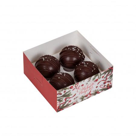 Набор шариков из темного шоколада - 4шт.