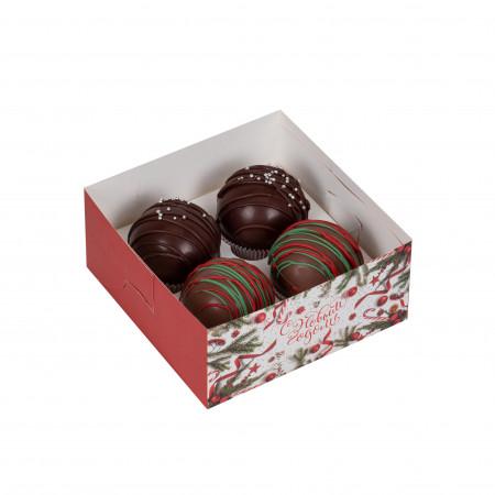 Ассорти-набор шариков из молочного шоколада - 2шт. и темного шоколада 2шт.