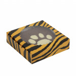 Шоколадная фигура тигровая лапа